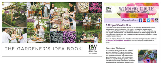 Gardener's Idea Book and Winners Circle® Newsletter
