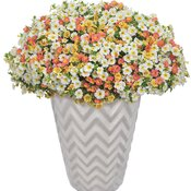 AquaPot® Chevron White Tall Round
