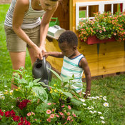 Children's Garden House - watering