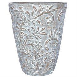 AquaPots® by Proven Winners® - Lily Leaf Antique White Tall Round