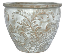 AquaPots® by Proven Winners® - Lily Leaf Antique White Flat Rim Round