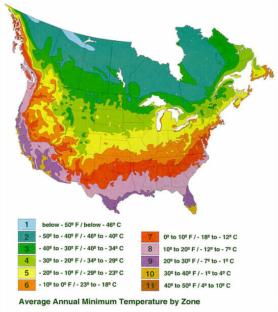 Zoning In On Hardiness Proven Winners - Us-plant-hardiness-zone-map